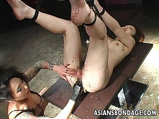 Very nasty bdsm session for the ugly slut