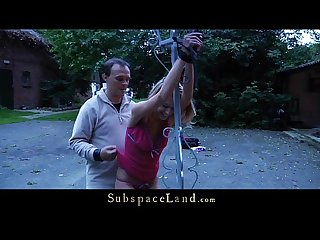 Bernice hard punished and whipped outside