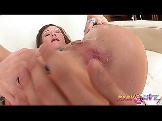 Pervcity preppy sluts anal threesome