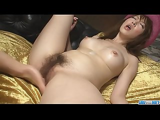 Stunning and horny Asian babe playing with cock and screwed - More at javhd.net