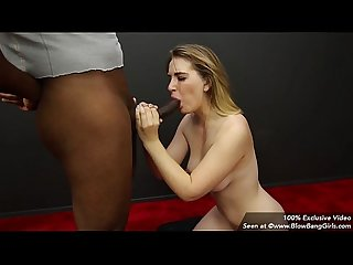21 year old blowbang girl skylar gives 7 blowjobs
