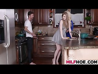 Stepdaughters boyfriend seduced by mom