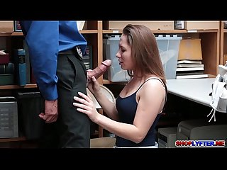 Teen thief hayden hennessey fucks for her freedom