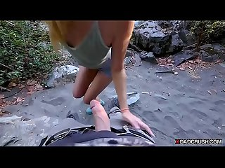 Hiking with stepdaddy ends in taboo fuck