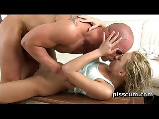 Katy rose gets piss wet cunt licked good