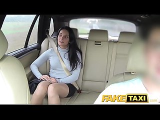 Fake taxi sexy long legs in lace stockings