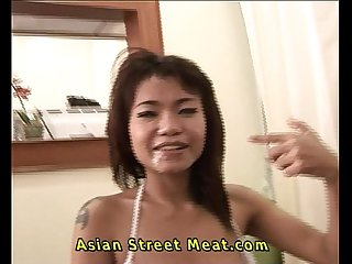 Cute bimbo dolly asian street meat petite