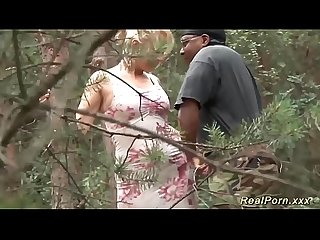German milf interracial outdoor banged