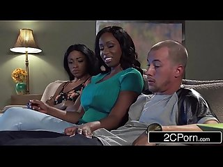 Big tit ebony milf codi bryant attempts to steal young anya ivy S boyfriend