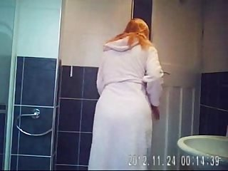 Hidden cam in bath room finally caught my cute mom nude excl excl