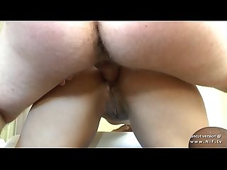 Tanned Amateur french slut with big butt fist fucked n sodomized in ffm threeway