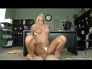Big tit blonde babe does what she s told