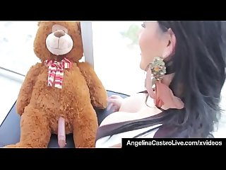 Cuban Babe Angelina Castro Fucks Her Teddy Bear In 2012 Vid!
