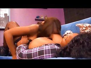Ebony lesbian sucking huge natural tits 4 creamza com