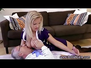 Wife films hubby fucking a noisy girl in stockings