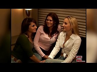 GIRLS GONE WILD - Lesbians Kimberly, Malorie and Shannon Have a Party Of Three