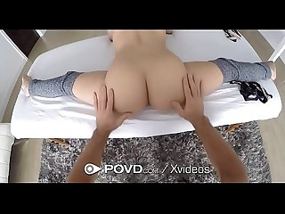 POVD Petite brunette Lucy Doll massage fuck with torpedo facial