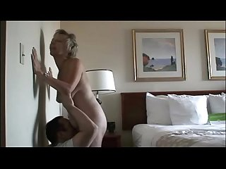 Munching On her 60 Year-Old Mature Pussy