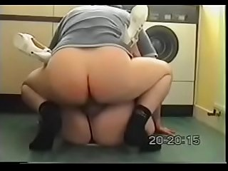 Mature Blonde With Sexy Heels Gets Doggy Fucked in the Kitchen