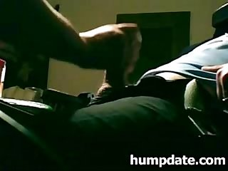 Guy gets handjob and the load to his face