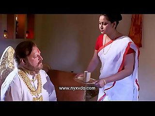 Desi indian aunty with sadhu baba