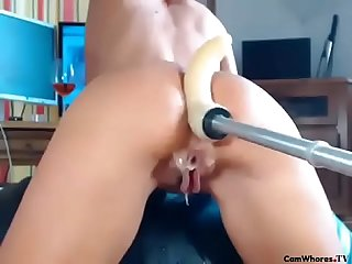 Fuckmachine Ass pummeling makes her booty juicy