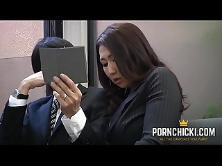 Jav secretary fucked by her older boss more at pornchicki com