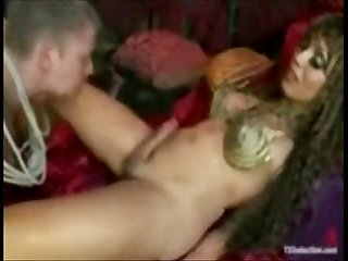 Tranny cock ramming the sailors ass