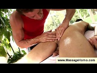 Gay masseur tosses his clients salad