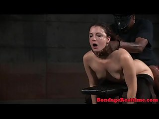 Restrained submissive spitroasted and slapped