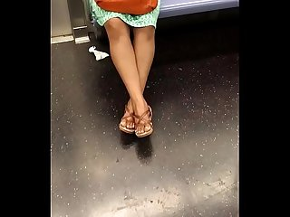 Horny Married Indian Woman In Subway