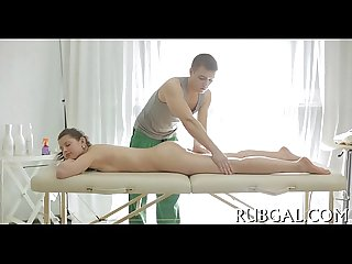 Agile masseur makes out with slut