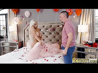 Valentines day anal surprise with a hot latina milf