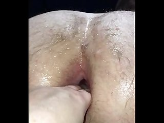 Wife fisting husband hardcore arse gaping