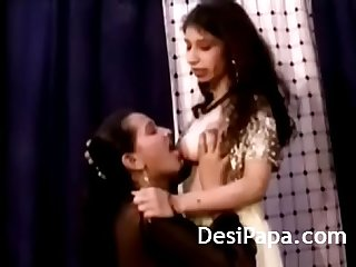 Desi lesbian girl kissing licking sucking each other boobs