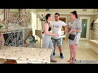 Anxious wife in the massage parlor - Dana DeArmond and Casey Calvert