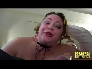 Chubby submissive throats