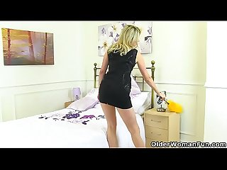 English milf ashleigh cleans up naked and ends up lactating