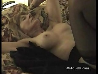 White mature gets black dick