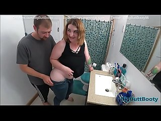 Hot Sex And Creampie In Parents Bathroom