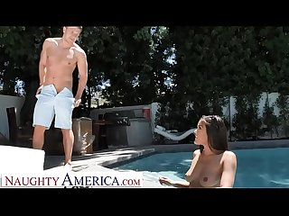 Naughty America Sheila Smith (Kendra Spade) fucks after a dip in the pool