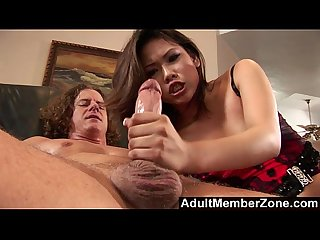 AdultMemberZone - Asian Princess Veronica Lynn Leaves Her Stockings On