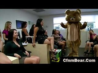 Cfnm stripper cums on babes face and tits at cfnm party