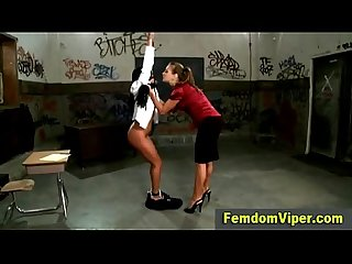 Lesbian whore restrained