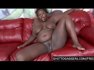 Throat pussy abuse for black bbw