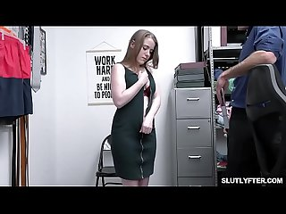 Teen Alice Merchesi compromise with the Officer and goes down on her knees to suck his huge..