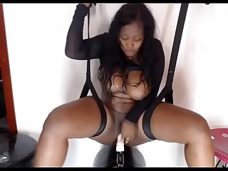 lbrack hd rsqb hot black latina with huge tits fucks herself