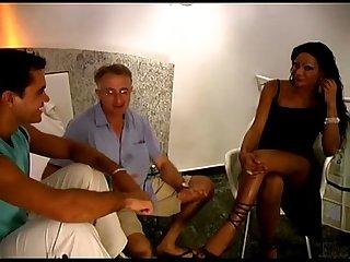 Brasilian tranny threesome bareback