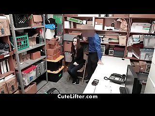 Security Guard Fucks British Girl For Shoplifting | CuteLifter.com