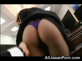 Teen japanese secretary excl
